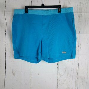 Curves Blue Women's Shorts Size XL